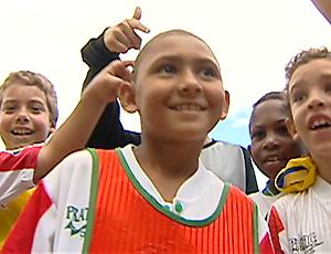 Kiezinha, irmão caçula de Kieza, atacante do Náutico (Foto: Reprodução/TV Gazeta)