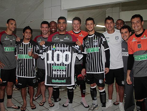 maicon figueirense camisa 100 jogos (Foto: Divulgação / Site Oficial do Figueirense)