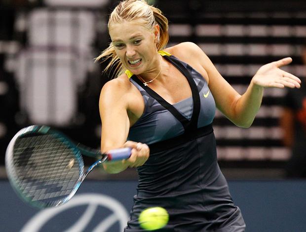 tênis sharapova zvonareva jogo exibição taiwan (Foto: Agência Reuters)