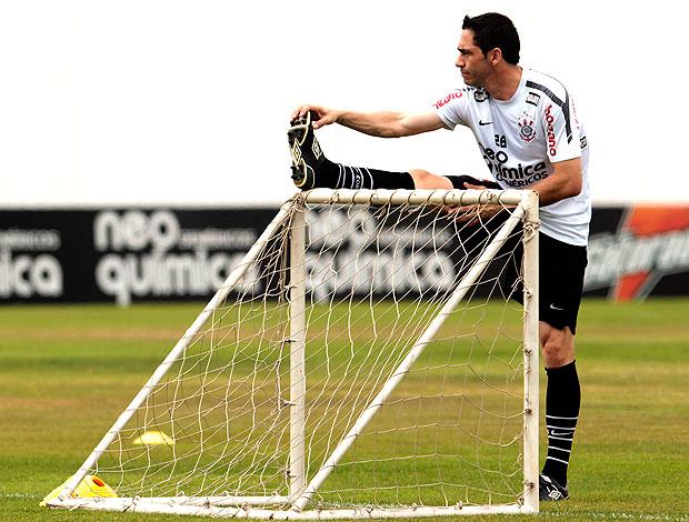 Chicão no treino do Corinthians (Foto: Miguel Schincariol / Ag. Estado)