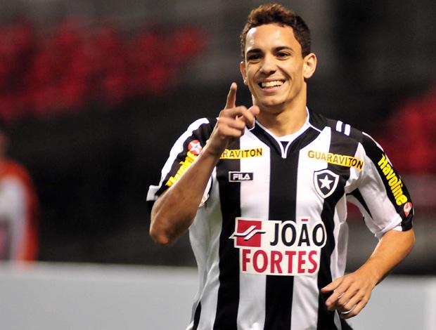 Caio comemora gol do Botafogo sobre o Santa Fé (Foto: Wallace Teixeira/Agência Estado)