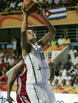 Érika Brasil x Cuba Copa América de basquete (Foto: Divulgação/Fiba)