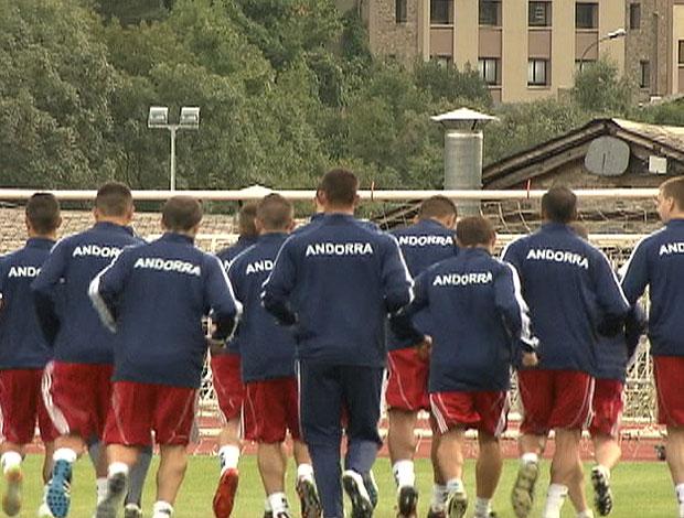Insensata Paixão Andorra treino (Foto: Reprodução)