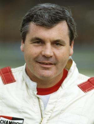 Alan Jones no Brasil em 1986, sua última temporada na F-1 (Foto: Getty Images)
