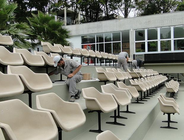 cadeiras da Cidade do Galo atlético-mg (Foto: Marcos Astoni / Globoesporte.com)