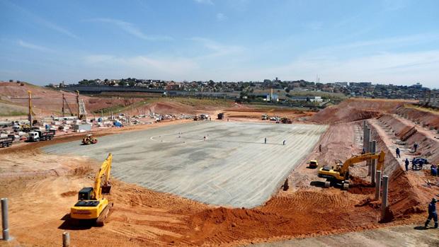 Obras no estádio do Corinthians (Foto: Divulgação)