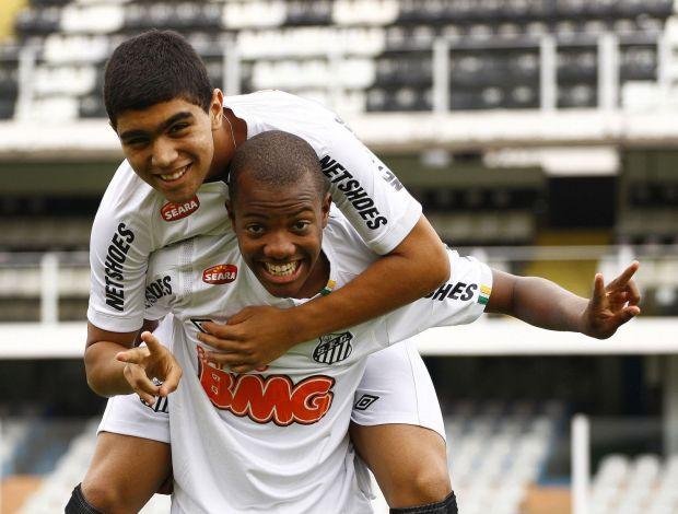 Gabriel e Victor Andrade, do Santos (Foto: Ricardo Saibun / Divulgação)