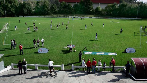 Futebol de 3 Lados (Foto: Reuters)