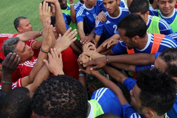 Marcos Paquetá comemora classificação da Líbia para a Copa Africana de Nações (Foto: Divulgação)