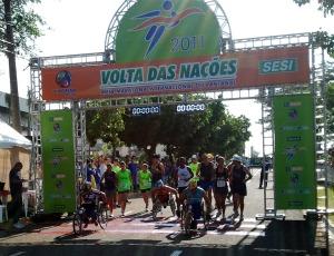 Largada Volta das Nações 2011 (Foto: Fernando da Mata/GE MS)