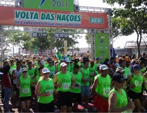 Largada geral da Volta das Nações (Foto: Fernando da Mata/GLOBOESPORTE.COM)