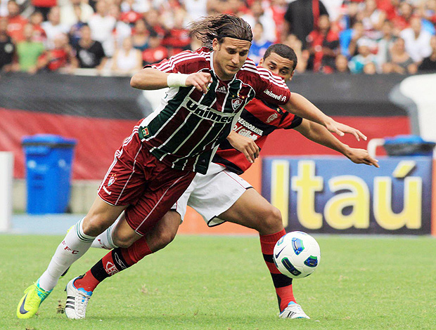 Rafael Moura Fluminense x Flamengo (Foto: Photocâmera)