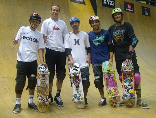 Pro Rad - Raul Roger, Tony Hawk, Lincoln Ueda, Sandro Dias e Kevin Staab (Foto: Breno Dines/Globoesporte.com)