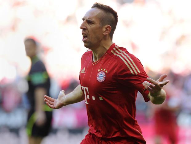 Ribéry comemora gol do Bayern de Munique x Hertha Berlim (Foto: AFP)