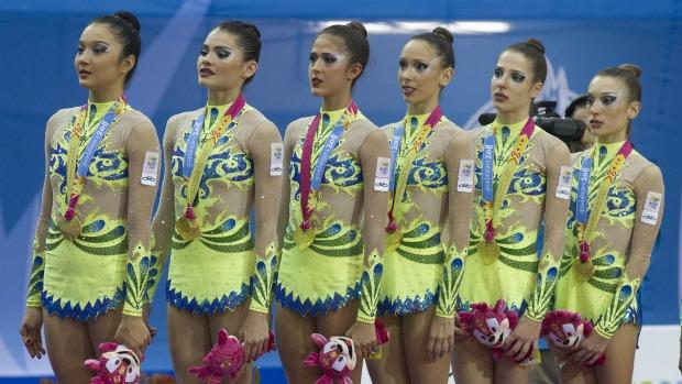Pan ginástica rítmica conjunto é ouro (Foto: Luiz Pires/ Vipcomm)