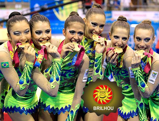 BRILHOU NO PAN GINÁSTICA BRASIL pódio medalha de ouro (Foto: agência Reuters)
