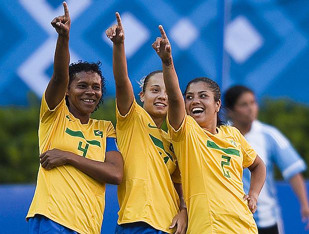 andrea brasil x argentina pan-americano guadalajara (Foto: AFP)