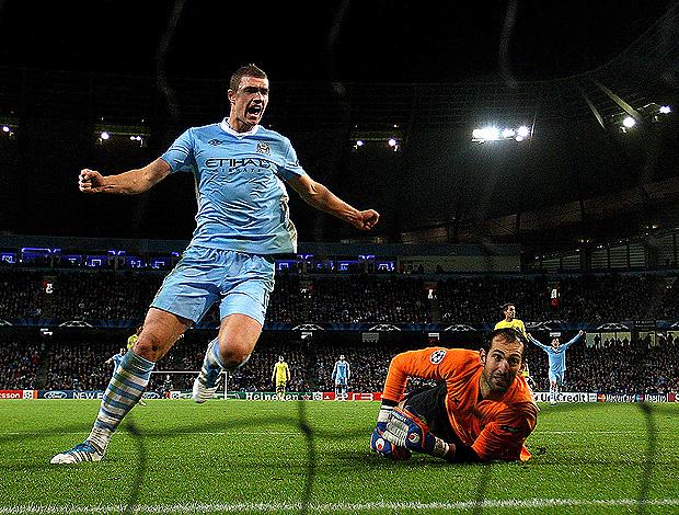 manchester City x Villarreal Edin Dzeko (Foto: Getty Images)