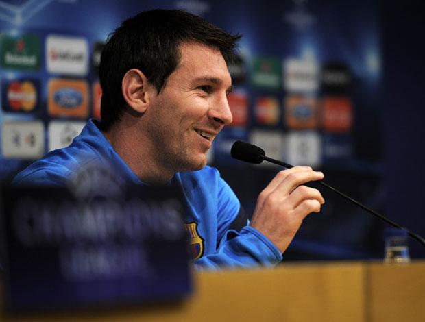 Messi do Barcelona em Coletiva (Foto: AFP)