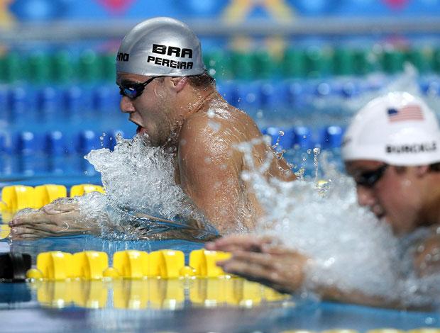 Natação - Thiago Pereira durante eliminatória dos 200 metros peito no Pan-Americano (Foto: Satiro Sodré/AGIF)