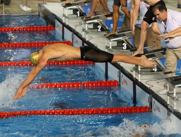 Pan natação 4x100m medley Cielo (Foto: Divulgação/Jefferson Bernardes/Vipcomm)