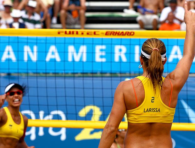 Final do vôlei de praia, com as brasileiras Juliana e Larissa (Foto: Divulgação / VIPCOMM)