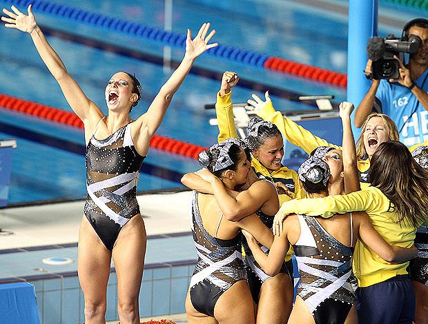 nado sincronizado do Brasil, nos Jogos Pan-Americanos 2011 em Guadalajara, México  (Foto: Jefferson Bernardes/VIPCOMM)
