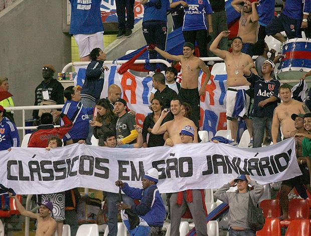 Torcida Universidad de Chile x Flamengo (Foto: Lance Press)