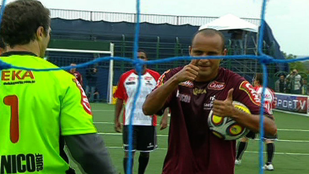 Bruno Reis, jogador de showbol do fluminense (Foto: Reprodução SporTV)