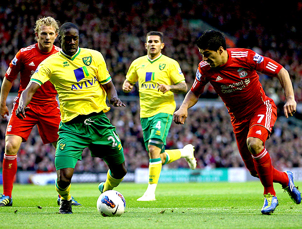 Luis suarez liverpool norwich (Foto: Agência Getty Images)