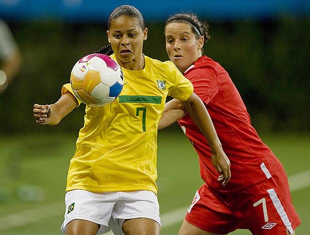 brasil x canadá futebol feminino pan-americano guadalajara (Foto: AFP)