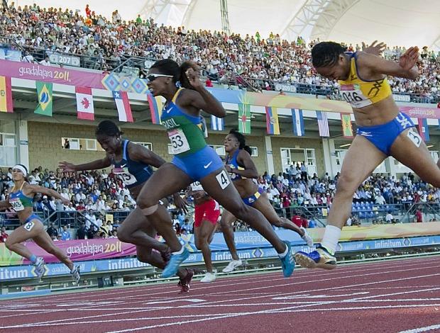 Pan atletismo 100m rasos Rosângela Santos (Foto: AFP)