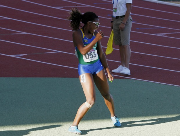 Pan atletismo 100m rasos Rosângela Santos (Foto: AP)