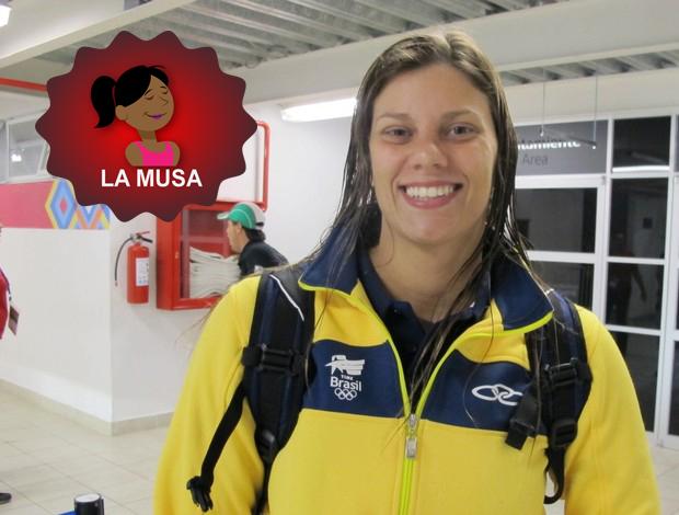 la Musa Luiza Carvalho Pan Pólo Aquático (Foto: Gustavo Rotstein / Globoesporte.com)