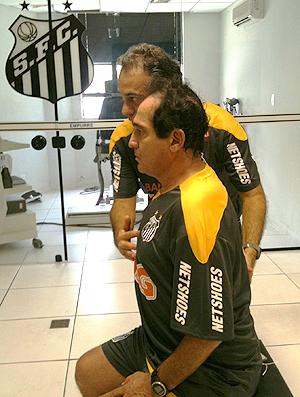 Muricy Ramalho no Santos (Foto: Wagner Eufrosino)