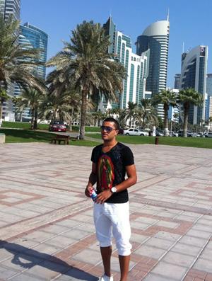 Vandinho no Qatar (Foto: Arquivo Pessoal)