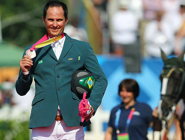 Bernardo Alves ganha medalha no hipismo do Pan (Foto: VIPCOMM)