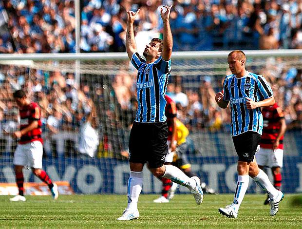 André Lima comemora gol do Grêmio contra o Flamengo (Foto: Ag. Estado)