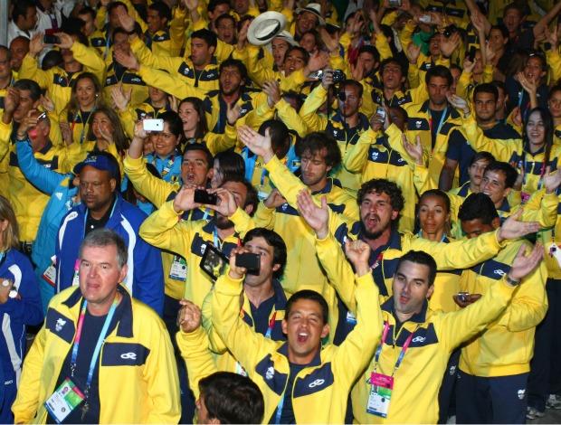 Pan encerramento atletas delegação brasil (Foto: Luiz Pires/Vipcomm/Divulgação)