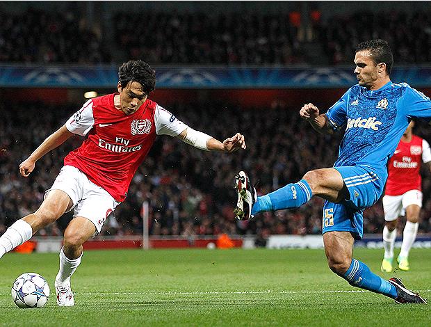 park morel Arsenal  x  Olympique (Foto: Reuters)