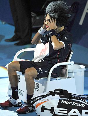 Novak Djokovic tênis Basileia máscara (Foto: AP Photo)