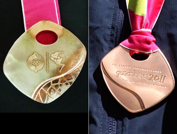 montagem medalha bronze pan-americano guadalajara (Foto: Editoria de Arte/Globoesporte.com)