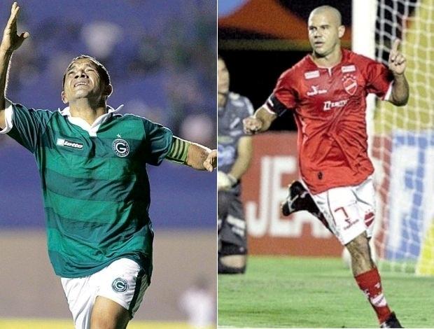 Iarley, pelo Goiás, e Roni, pelo Vila Nova, são as referências do clássico (Foto: Arte: Daniel Mundim/Globoesporte.com)