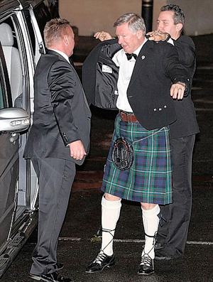 alex ferguson manchester united festa 25 anos (Foto: Reprodução Daily Mail)