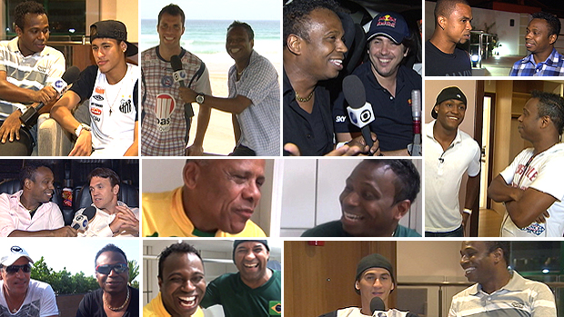 montagem Edilson entrevistas (Foto: Editoria de Arte / GLOBOESPORTE.COM)