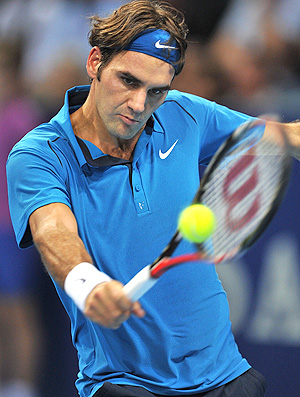 Roger Federer tênis Basileia quartas (Foto: Getty Images)