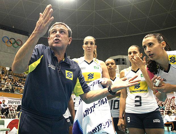 Zé Roberto na derrota do Brasil contra os EUA na Copa do Mundo no Japão (Foto: FIVB)