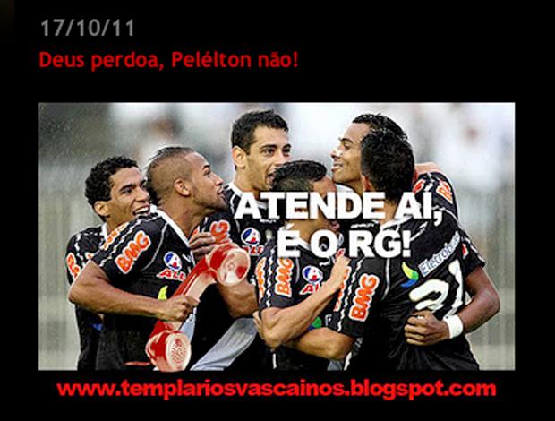 Frame Pelelton internet Vasco (Foto: Reprodução/Templariosvascaino.blogspot.com)