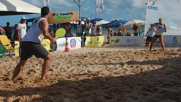 Daniel Careca e Marcão (de SP) na Copa Brasil de Frescobol (Foto: Expedito Madruga)