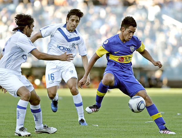 Fabián Cubero, Víctor Zapata, Sergio Araujo Boca Juniors (Foto: EFE)